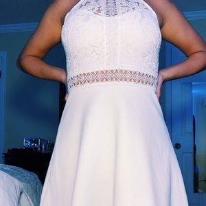 White francescas lace dress size 1!